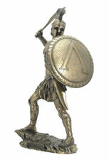 Spartan Warrior with Sword & Hoplite Shield Statue Sculpture  - New in Box
