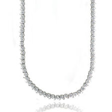 12 CARAT Cubic Zirconia S Design Tennis Necklace in Brass