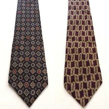 Tommy Hilfiger LOT OF 2 classic necktie tie 100% Silk elegant wedding office USA