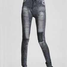 Ladies Denim Jeans Sexy Skinny Leggings Jeggings Stretch Pants Trousers One Size