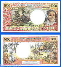 French Pacific 1000 Francs CFP Unc French Polynesia Tahiti New Caledonia France