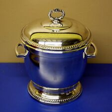 ANTIQUE SIGNED ART S CO S.P.C. 251 Silverplate ICE BUCKET w/ Braided Edge