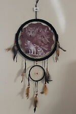 "Dream Catcher Mandella Wolves Earth Collection Quality 13"" picture Wall B"