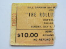 THE ROLLING STONES TICKET 6TH JULY 1975, COTTON BOWL, DALLAS, U.S.A.