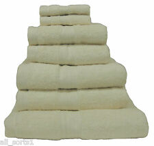 CREAM 100% EGYPTIAN COTTON LUXURY HOTEL HIGH QUALITY TOWELS 8 PIECE BALE SET