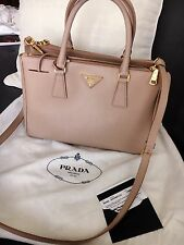 authentic PRADA saffiano LUX handbag cammeo color