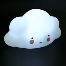 Lovely Cloud Kids Baby Children LED Night Light Nightlight Lamp Decor Gift