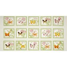 """BUTTERFLY BOTANICAL Fabric Cotton Craft Quilting Large Panel 44"""" x 24"""""""