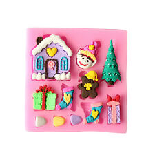 Christmas Silicone Handmade Fondant Cake Decorating DIY Mould Molds Tools