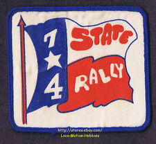 LMH Patch '74 GOOD SAM CLUB State SAMBOREE Rally TX Event RV Sams Lone Star Flag
