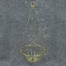 """3 Brass Plated Baskets 8"""" Wire Hanging Planter Basket #06717208 Lgr Sizes Listed"""