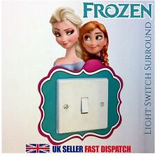Frozen Light Switch Surround Sticker Cover Vinyl Olaf Elsa Anna Kids Bedroom