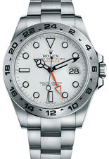 216570 | ROLEX EXPLORER II | BELOW RETAIL & AUTHENTIC WHITE DIAL 42MM MENS WATCH
