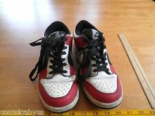VINTAGE NIKE 2008 low top shoes red black Air Dunk 5Y used