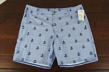 NEW Sperry Mens Watershorts Swim Suit Trunks Board Shorts Sz 38 NWT Blue Anchors