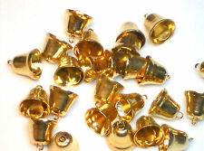 #1180 Vintage Bells Charms Bell Findings Components Brass 9mm Connectors NOS