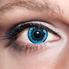 Blaue Kontaktlinsen Engel farbige Motivlinsen Blau Blue Angel Eyes Contacts;K534