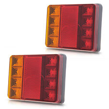 2X Truck Trailer LED Tail Light Brake Stop Reverse Indicator Lamp SUBMERSIBLE