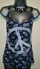 Ladies Size 6 Top H&M Peace Vest Excellent Condition Boho Hippie