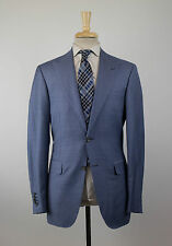 New CANALI EXCLUSIVE 1934 Blue Super 150s Wool 2 Button Suit 50/40L Drop 7 $2695