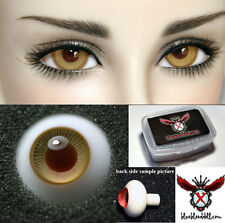 1/3 1/4 bjd 14mm amber color high quality glass doll eyes dollfie #TS-27 ship US