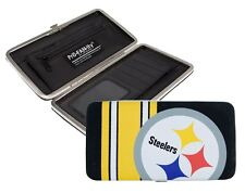 Pittsburgh Steelers Ladies Mesh Hard Shell Wallet NFL