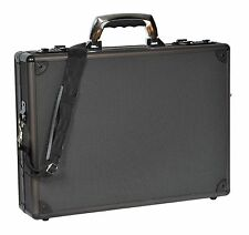 Aluminium Metal Frame Attache Executive Briefcase Protective Carry Case Black