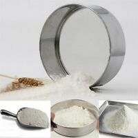 Stainless Steel Mesh Flour Sifting Sifter Sieve Strainer Cake Baking Kitchen PQ