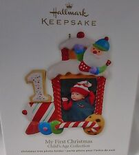 2012 HALLMARK My First Christmas Train Locomotive Photo Holder Ornament NEW