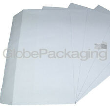 50 x DL PLAIN WHITE SELF SEAL ENVELOPES 120x210mm SS