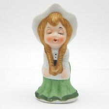 Vintage 1983 Irish Lass Figurine Kissing Girl Collectible Porcelain Ceramic