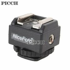 C-N2 Hot Shoe Converter Adapter with PC Sync for Nikon Flash to Canon Camera