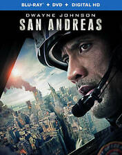 San Andreas (Blu-ray/DVD, 2015, 2-Disc Set) Dwayne Johnson NEW