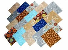 40 5 inch Quilting sqs Beautiful Blues, Browns, & Gray    Charm pack/BUY IT NOW-