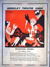 1928 Abdulla Cigarettes NERMAN Art Ad. 'Detective Drama' - Art Deco Print Advert