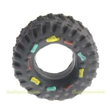 #QZO Tyre Treads Tough Dog Toy Puppy Pet Chew Squeaky Toys Hard Wearing Rubber