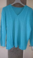 pull bleu turquoise taille 50/52
