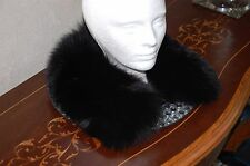 Wonderful Dyed Real Fox Fur Collar w/Small Loops