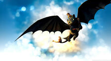 "How to Train Your Dragon 1 2 Wall Movie 40""x24"" Poster H04"