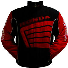 MEN HONDA RED COTTON COAT MOTORCYCLE MOTOR BIKER ARMOUR RACER COAT JACKET