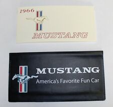 New! 1966 Ford MUSTANG Owners Manual and Wallet Cover Free Shipping