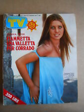 TV Sorrisi e Canzoni n°35 1978 Fiametta Flamini Alan Sorrenti Patty Pravo [C99]