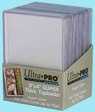 25 Ultra Pro 3x4 75PT THICK TOPLOADERS NEW Rigid Clear Standard Size Card Sleeve