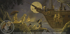 Pirates & Mermaids with Ship-David Delamare Art (R66)