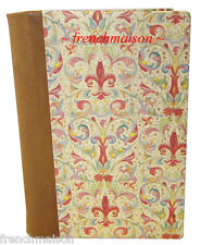 Italian-Made Florence Handcrafted LEATHER Spine FLEUR DE LYS NOTEBOOK Gift SMALL