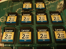 10-PACK Lexar  2GB SD Secure Digital Card  2 GB x 10  SD2GB-711