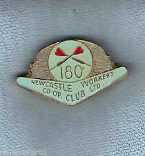 #D176.  NEWCASTLE  WORKERS  CLUB   DARTS  180  LAPEL BADGE