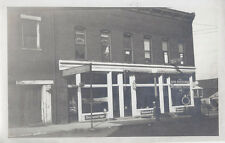 1910s SNAPSHOT PHOTO PAINESVILLE OH? LAKE COUNTY SAVINGS & LOAN OFFICE & TIRES