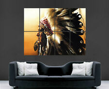 Native American Indian Chief poster foto stampa art. enorme gigante grande