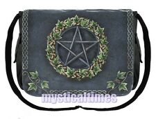 NEW * IVY PENTAGRAM * WICCA PAGAN MESSENGER BAG SHOULDER NEMESIS BAG FREE POST